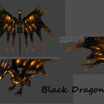Now black dragon actually became black. -Change The overall color of the dragon -Increase The contrast glow -Added The stars at the edge of the wings.